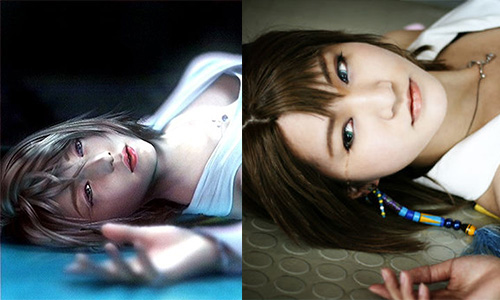 Cosplay Yuna final Fantasy X